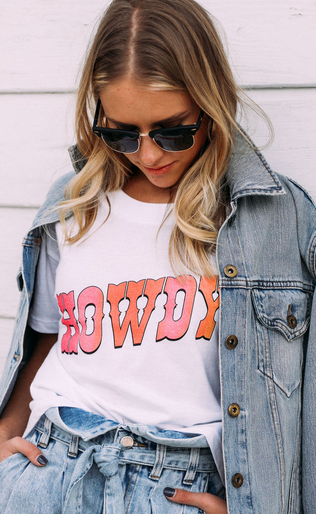 charlie southern: howdy crop t shirt