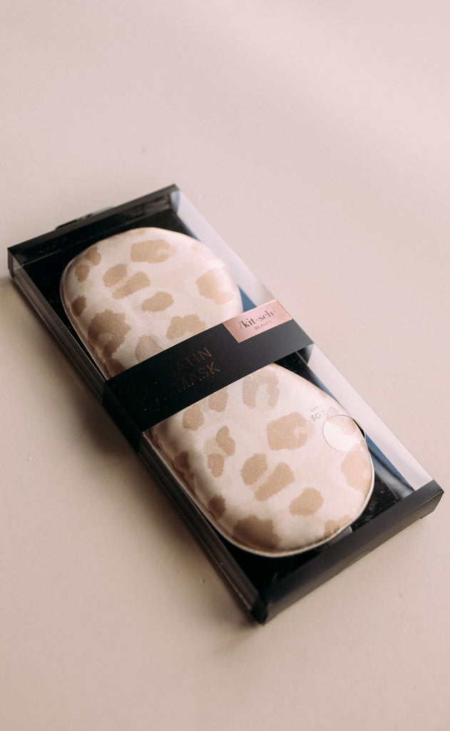satin eye mask - leopard