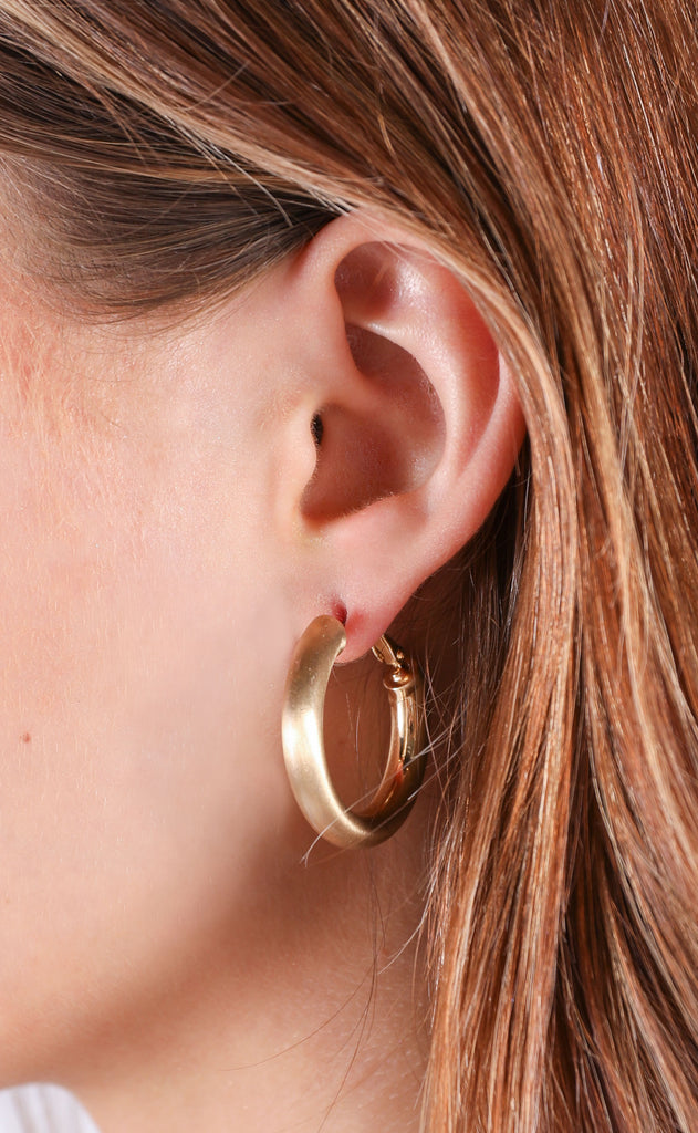 in the loop hoop earrings