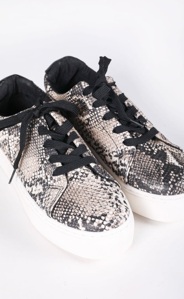 solemates chunky sneaker - snake