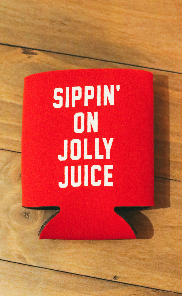 friday + saturday: sippin' on jolly juice drink sleeve - set of 4