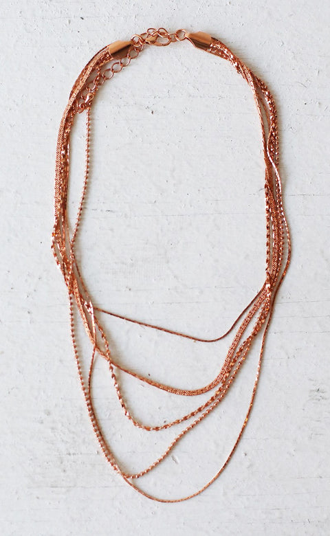 layered for you necklace - rose gold