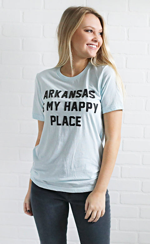 charlie southern: arkansas is my happy place t shirt