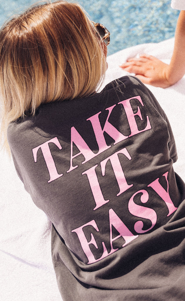 friday + saturday: take it easy pocket t shirt
