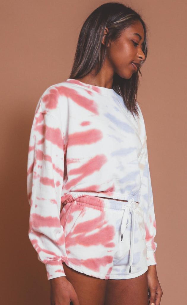z supply: britton tie dye sweatshirt - white