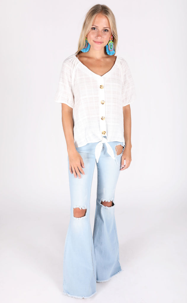 summer solstice button up top