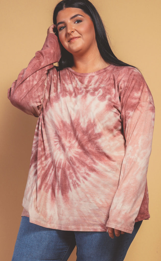 la jolla washed tie dye top - extended