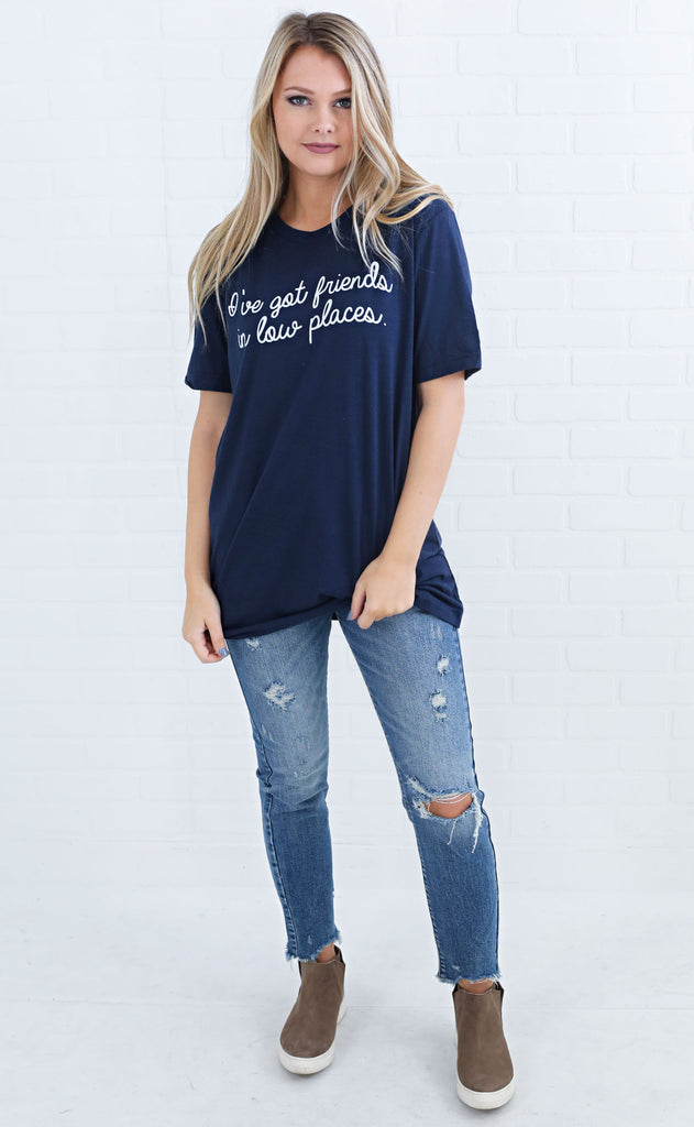 charlie southern: low places t shirt