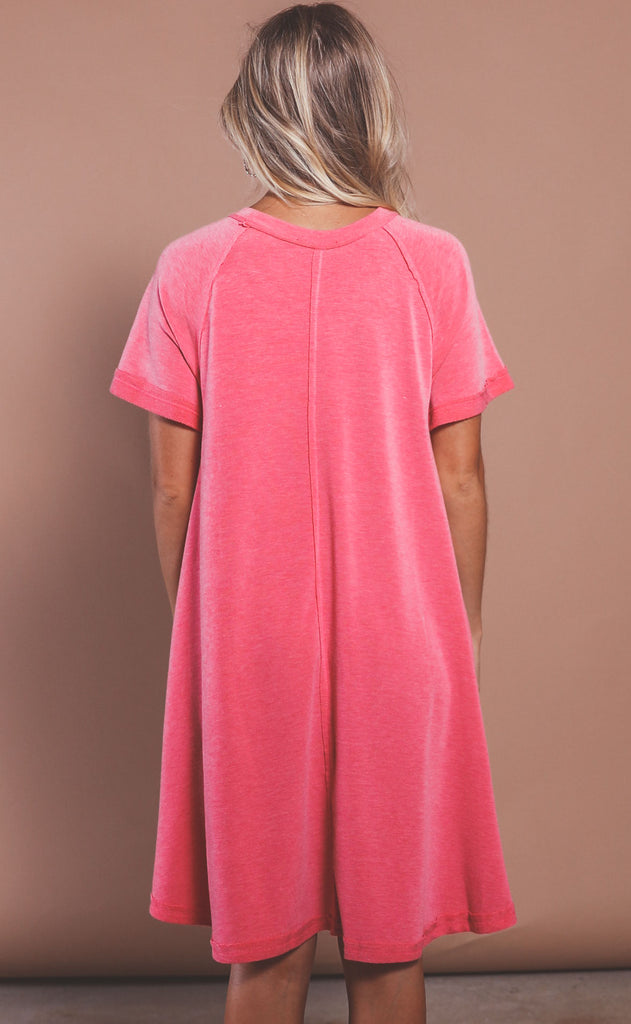 coral coast t shirt dress