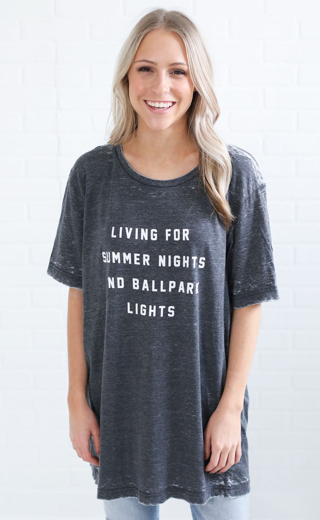 charlie southern: living for summer nights t shirt