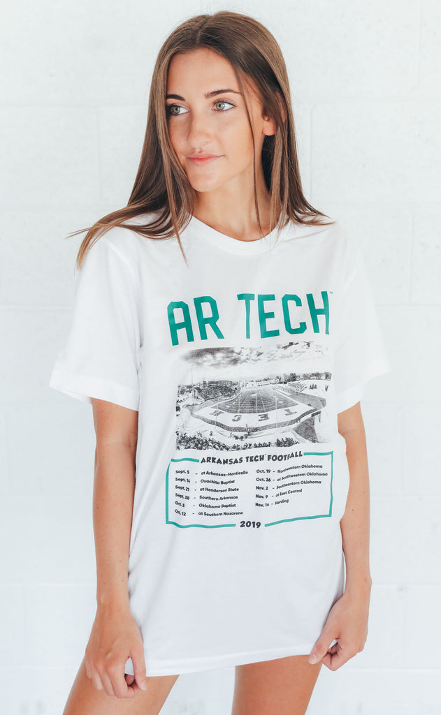 charlie southern: arkansas tech stadium t shirt