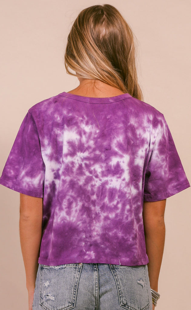 buddy love: julie top - purple tie dye