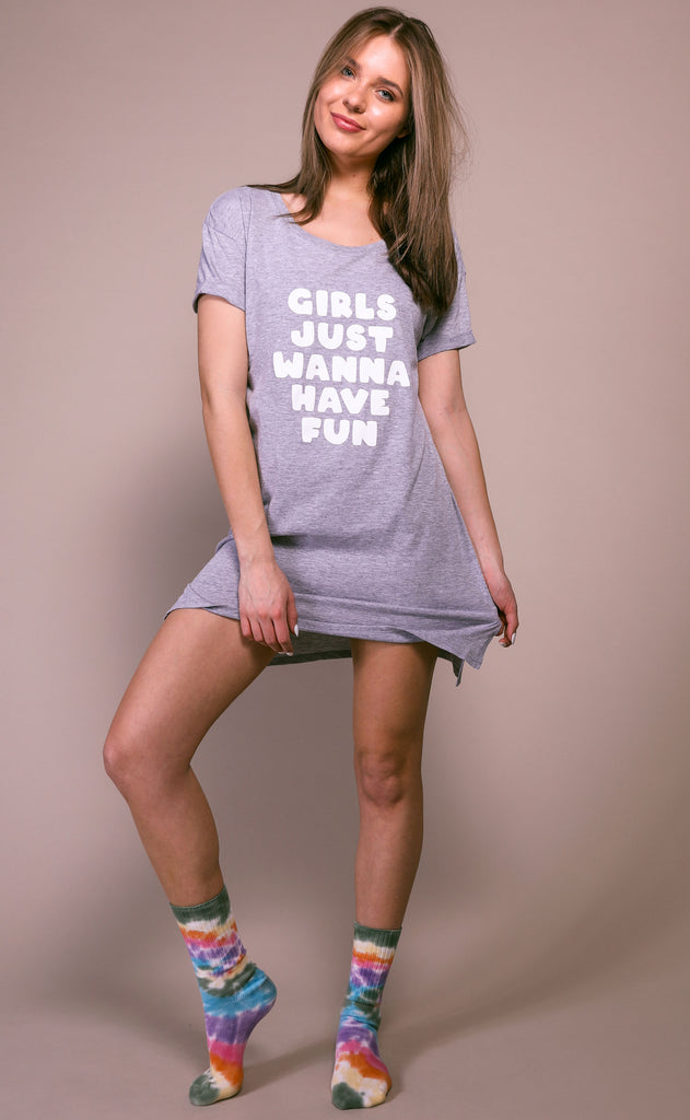 friday + saturday: girls just wanna have fun tunic