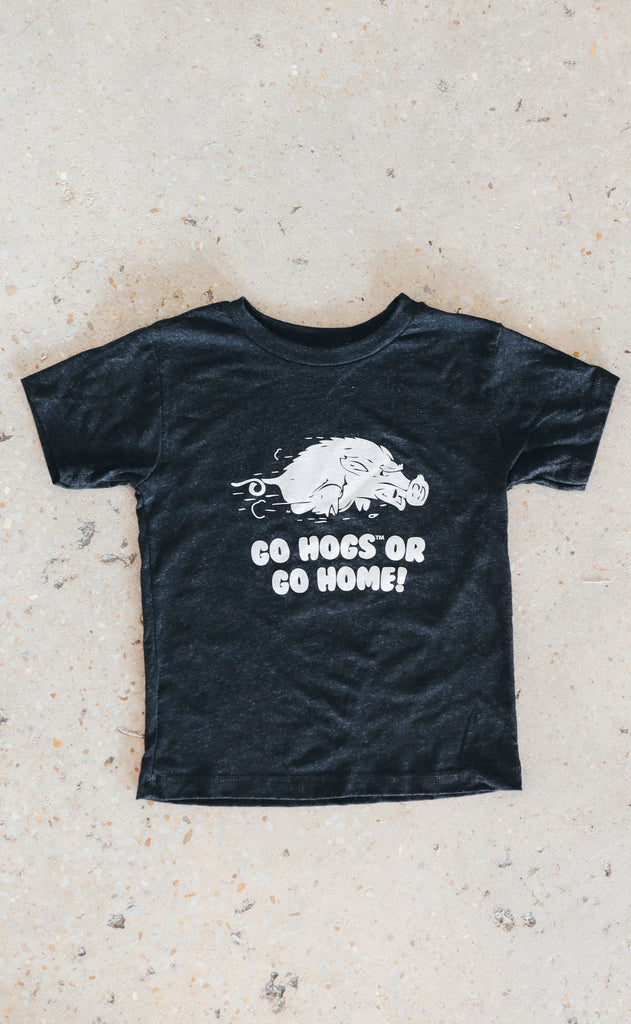 charlie southern: go hogs or go home toddler tee
