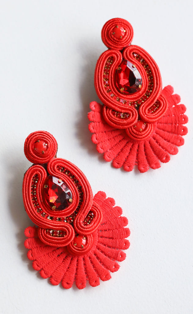 sammy earrings - red