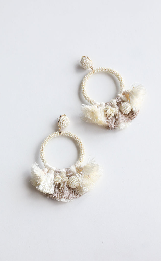 baru earrings - ivory