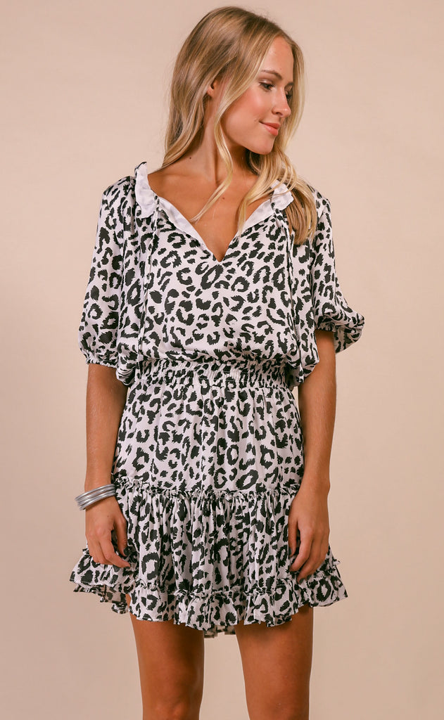 buddy love: ray dress - white cat