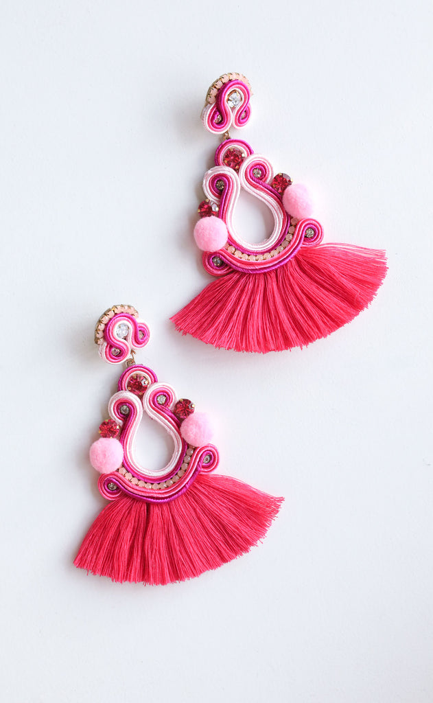 camila earrings - pink