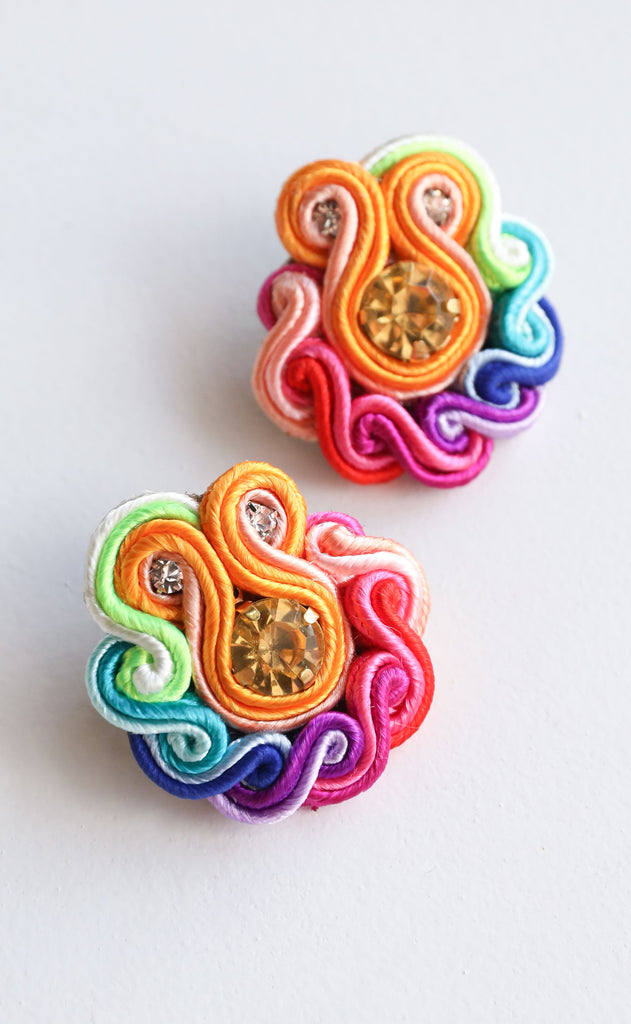 rainbow earrings - small