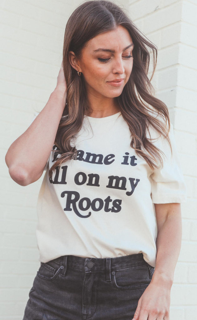 charlie southern: blame it all on my roots t shirt