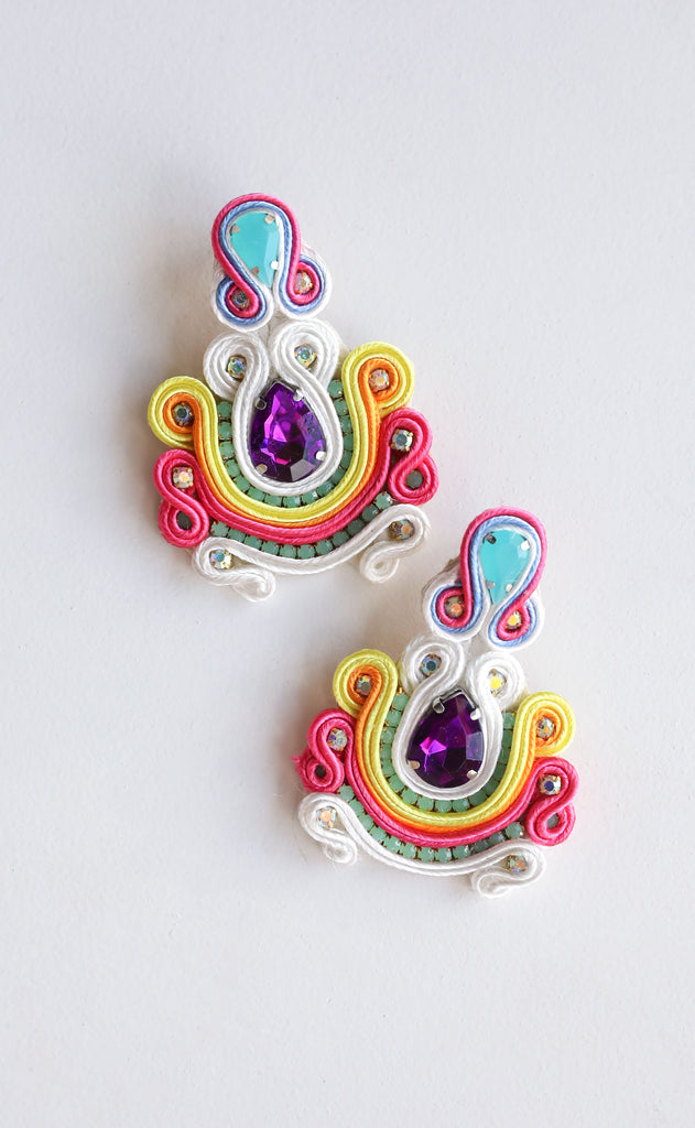 mel earrings - multi