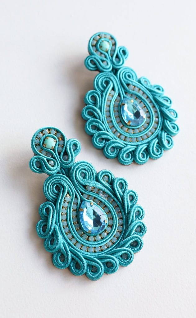 debbie earrings - turquoise