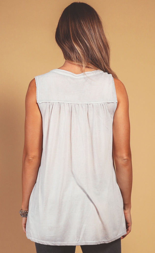 fall feeling tank top - grey