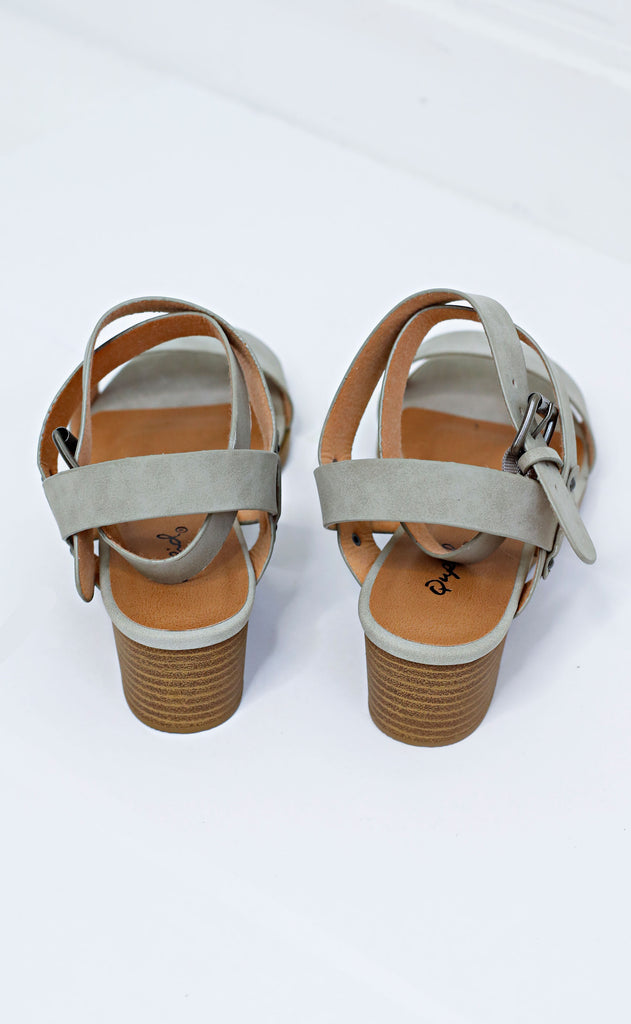 two step strappy sandals