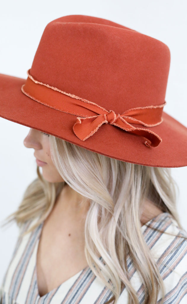 top it off felt hat - rust