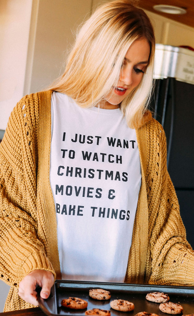 charlie southern: watch movies and bake things t shirt
