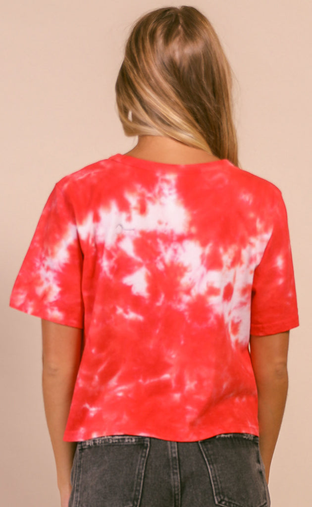 buddy love: julie top - red tie dye