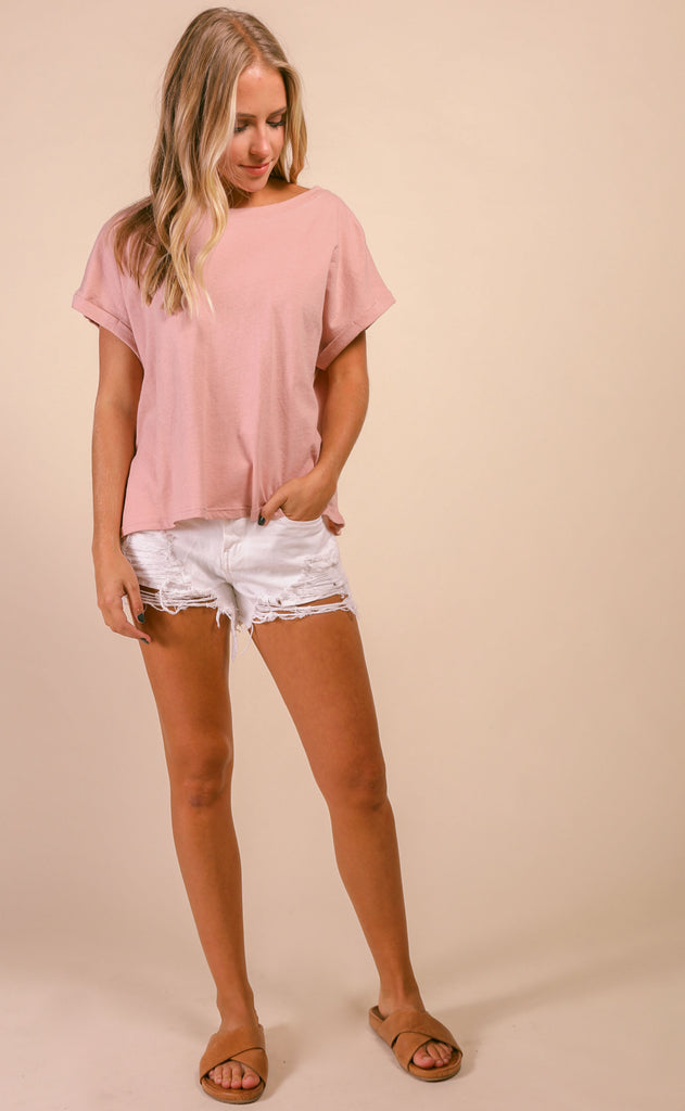 better days basic tee - mauve