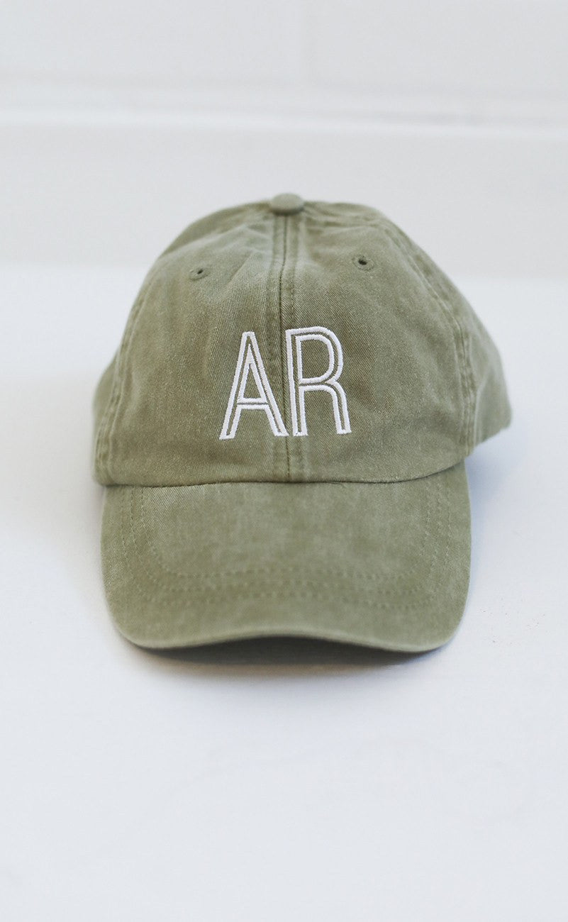 charlie southern: retro state hat - arkansas [olive]