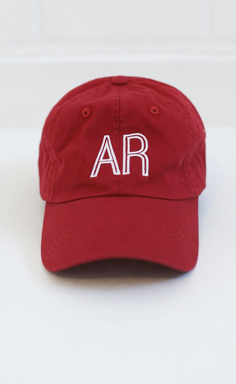 charlie southern: retro state hat - arkansas [red]