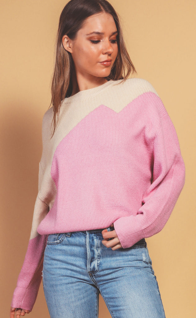 bolt purple knit sweater