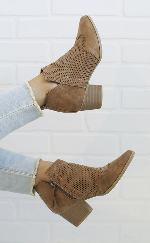 stand up perforated bootie