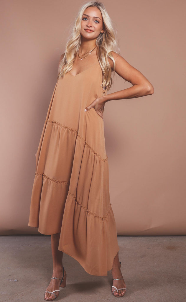 wide open spaces ruffle maxi
