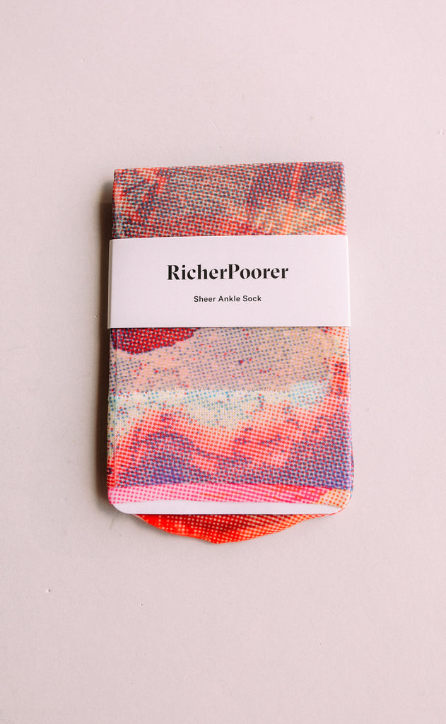 richer poorer: collage sock - beetroot purple
