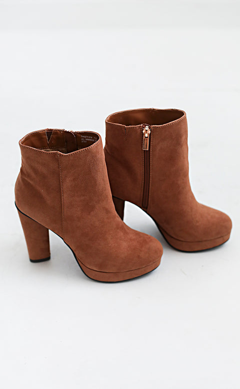 to the sky suede bootie