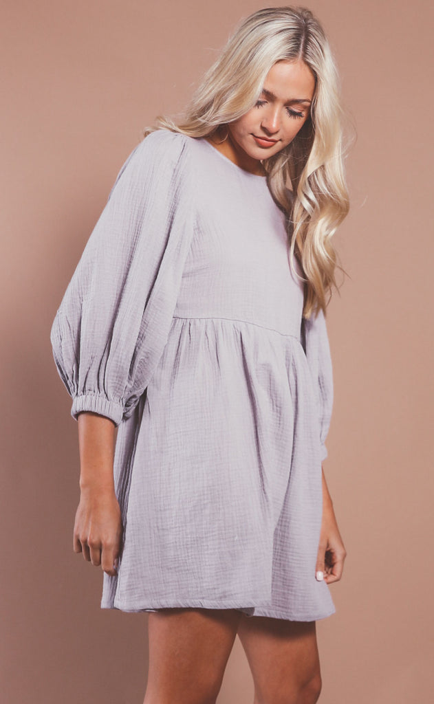 by your side babydoll dress - lavender