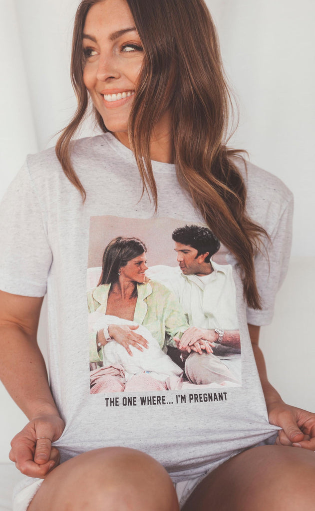 friday + saturday: the one where...i'm pregnant t shirt