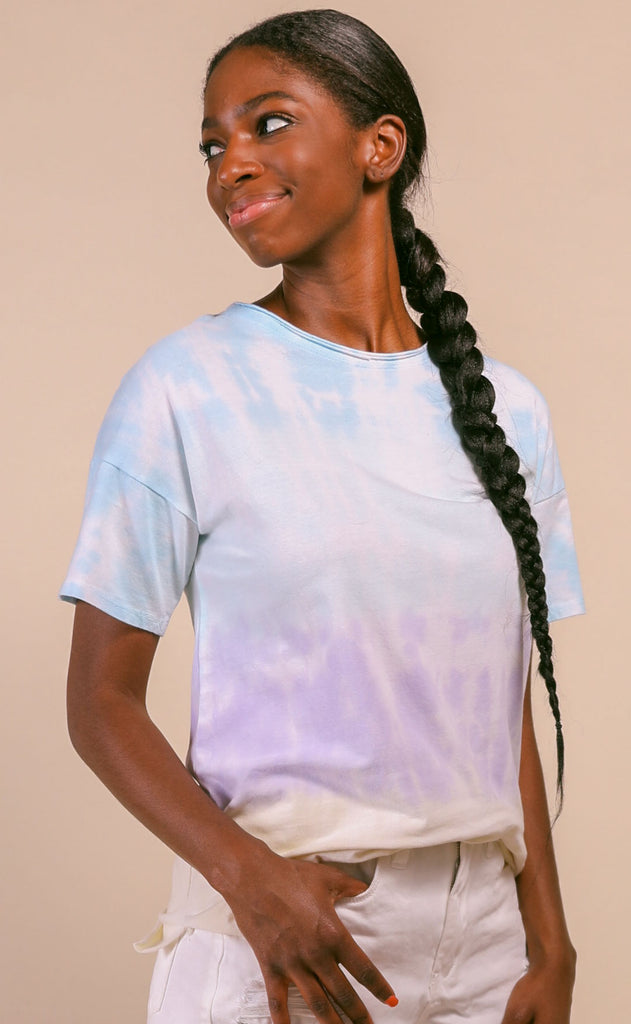 afternoon tie dye tee - teal