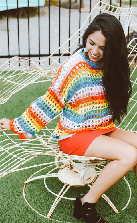 groovy days knit sweater