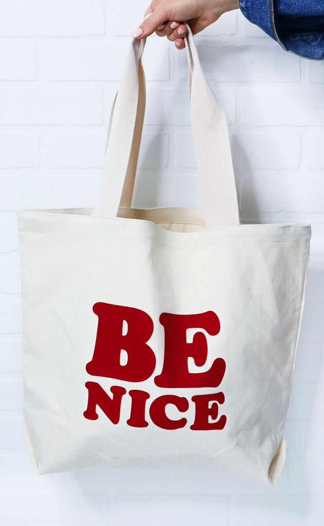 ban.do: big canvas tote - be nice