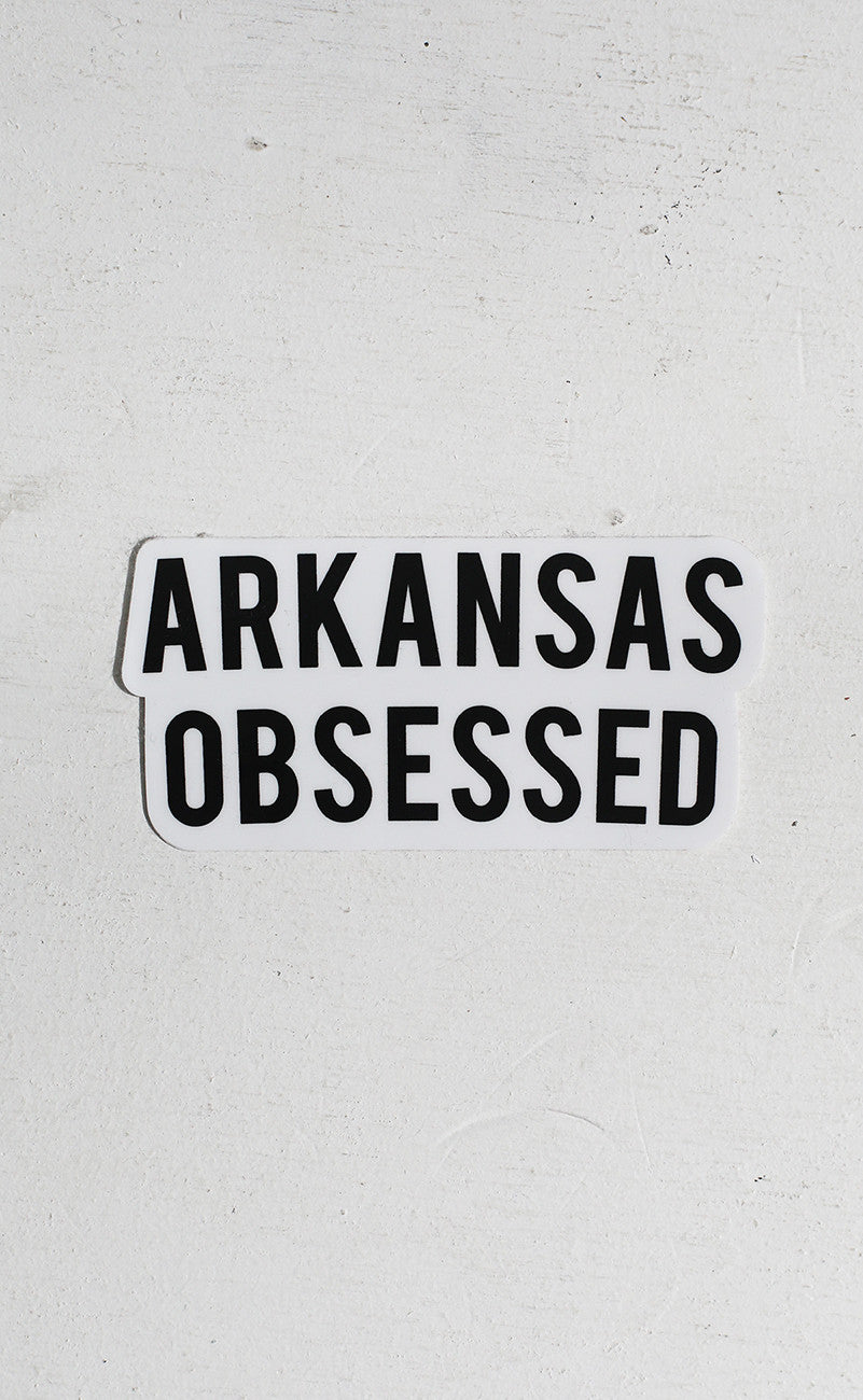 arkansas obsessed sticker