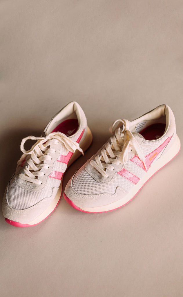 gola: vancouver mesh - off white/fluro pink