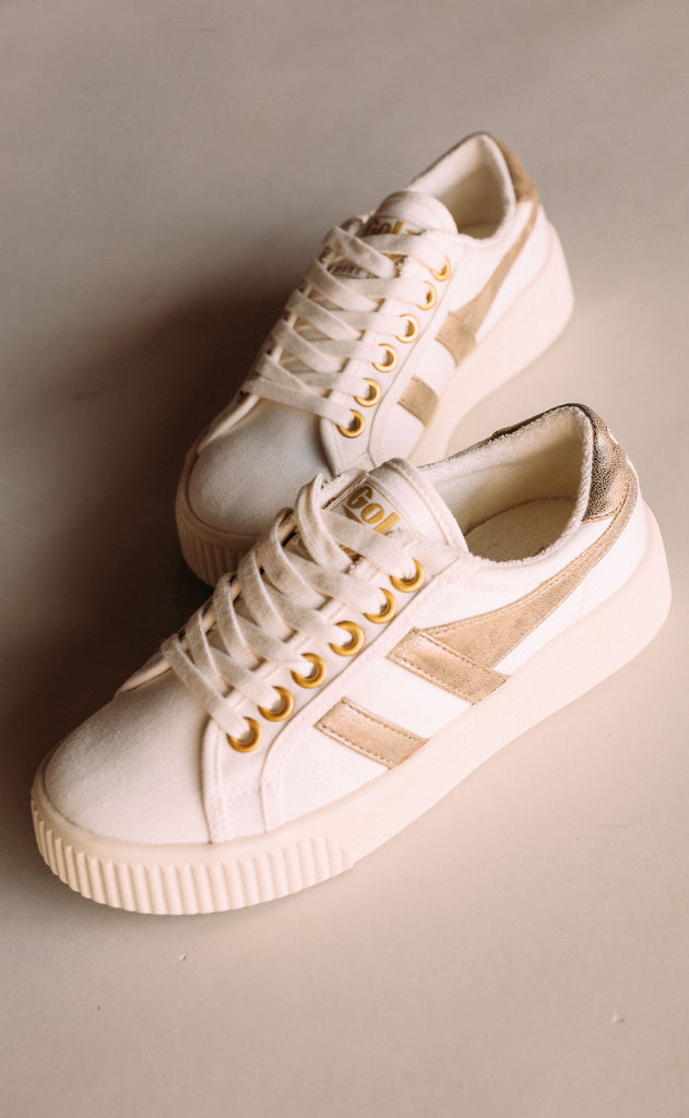 gola: baseline mark cox - off white/gold