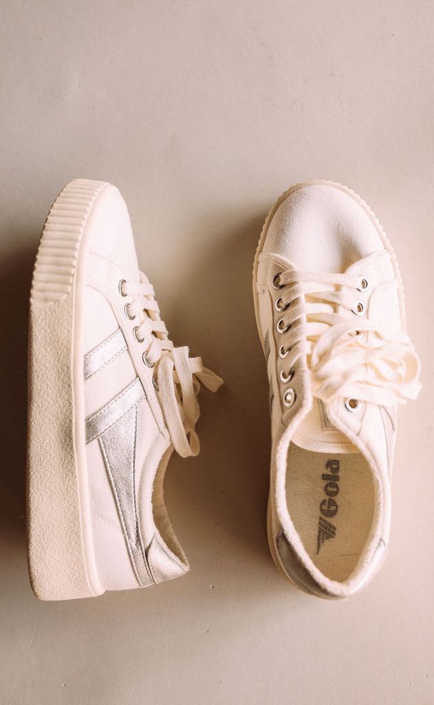 gola: baseline mark cox - off white/silver