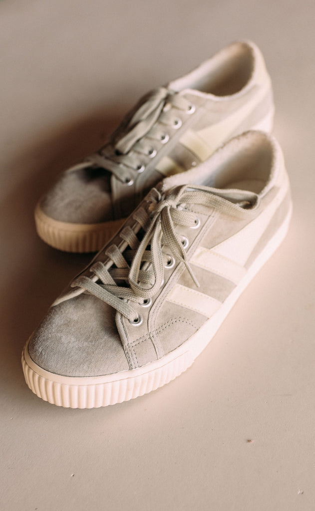 gola: tennis mark cox suede - light grey/off white