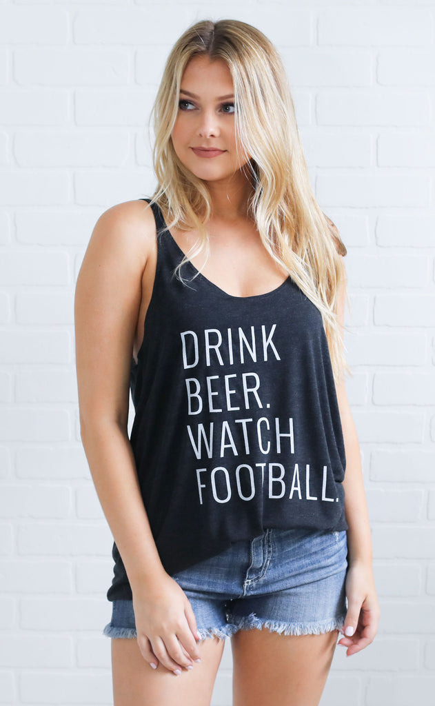 charlie southern: drink beer watch football tank